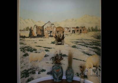 california-mission-mural-in-home