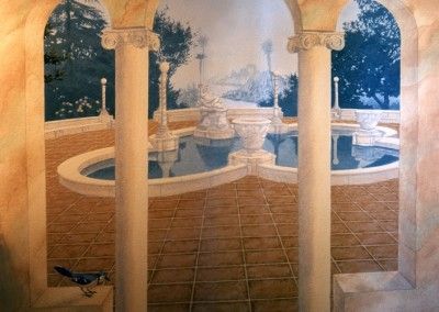 courtyard-pond-mural-in-home