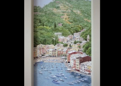 portofino-harbor-mural-in-home